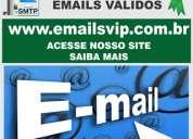 Lista de empresas, emails de pessoas, email de empresas