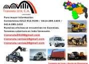 """Camiones con brazo hidráulico """"transruta 2019 c.a""""."""