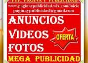 40 usd, publicistas, mega publicidad, clasificados, videos. caracas, maracaibo, valencia
