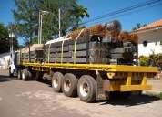 Se realizan traslados de cargas pesadas en gandolas batea o plataforma a nivel nacional