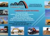 Alquiler de camiones con brazo hidráulico a nivel nacional