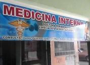 Consultorio medico. especialista en medicina interna.contactarse.