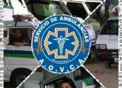 Servicio de ambulancias las 24 horas.oportunidad!