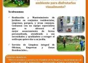 Servicios de limpieza, mantenimiento y jardinería.