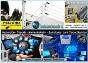 cercos eléctricos y cámaras de vigilancia