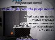 alquiler de sonido profesional para eventos.