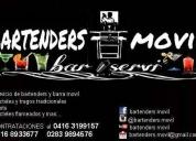 Bartenders y barra movil. contactarse.