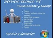 Servicio técnico computadoras y laptops.
