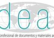 Traducción de documentos de texto y audiovisuales,contactarse!