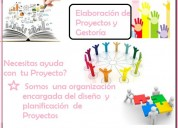 Elaboración de proyectos y gestoría. contactarse.