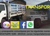 Oportunidad!. viajes mudanzas y traslado de mercancía