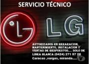 Servicio tecnico autorizados lg caracas, contactarse.