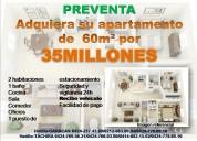 Vendo apartamentos de  60m² por 35millones