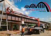 Transruta 2019 ca, nivel nacional camiones con brazo hidráulico