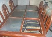 Notienes comedor vendo uno d madera y vidrio y 6 sillas usado