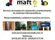 Reparacion instalacio hidroneumaticos agua caracas