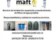 Instalación reparación de filtros de agua caracas
