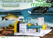 Extrusora meelko pellets flotantes para peces1000