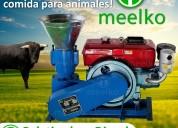 Peletizadora meelko 200 mm 15 hp diesel para conce