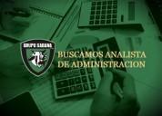 Buscamos analista administrativo en valencia