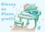 Clases de piano gratis, niños, niñas.