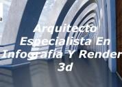 Arquitecto especialista en infografía y renders 3d