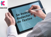 SE BUSCAN REDACTORES Y community manager