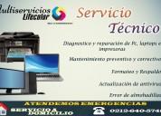 Servicio técnico computadores e impresoras