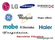 Agente de servicio tecnico lg neveras lavadoras