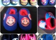 Pantuflas 3d para niños y niñas