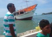 Bote de pesca a estrenar puerto la cruz