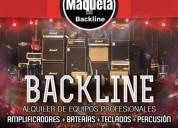 Alquiler backline para conciertos, presentaciones