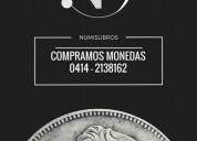 Se compran monedas antiguas de venezuela oro y pla