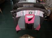 Combo graco lily corral, porta bebe y coche