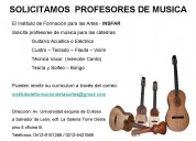 Solicitamos profesores de musica