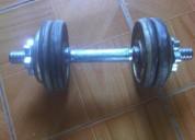 Mancuerna con pesas marca gold,s gym