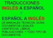 Traducciones ingles-español   español-ingles