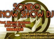 Alquiler de sonido semi profesinal now show dj