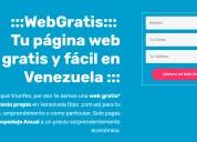 Paginas web profesionales gratis en venezuela