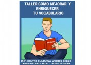 Taller como mejorar y enriquecer tu vocabulario