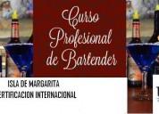 Curso de bartender profesional en margarita
