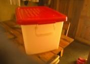 Caja plástica multiuso mediana