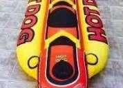 Banana inflable tipo hot dog