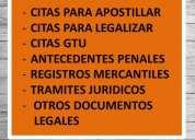Citas para apostillar documentos. contactarse.