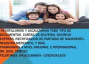 Oportunidad!.  apostilla y legalizacion de documentos anaco