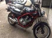 Super moto yamaha x j negra y roja