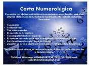 Carta numerologica y estudio numerologico.