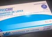 Guantes de latex descartables