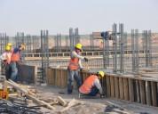 Obreros generales, trabajadores de la construcción