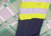 Pantalon industrial con bandas reflectivas